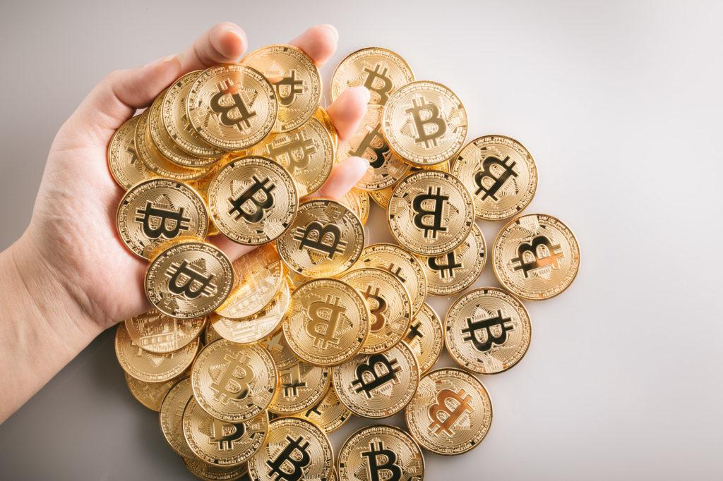 ブランド買取の経費をイメージしたビットコインのダミー